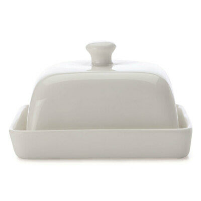 1 Set Maxwell & Williams White Basics Rectangular Butter Dish/Lid 15cm Tableware