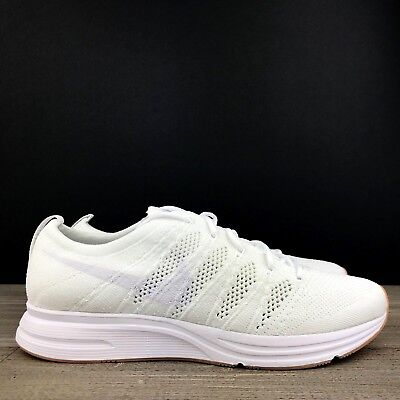 ... online store c172f 1fa45 Nike Flyknit Trainer Triple White Gum Men s  Sneakers Shoes AH8396- ... 7327f4a63