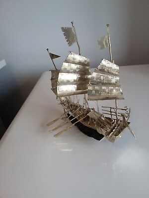Vintage Chinese Silver Junk