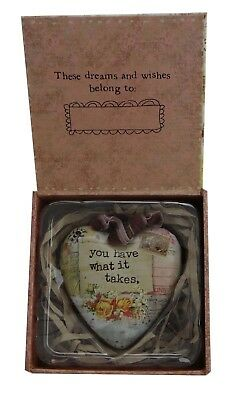 Kelly Rae Roberts Heart Ornament - What it Takes 1002720189