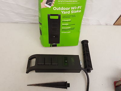 WiOn Outdoor Wi-Fi Yard Stake with 3-Outlets, Wireless Switch, P (H102847)