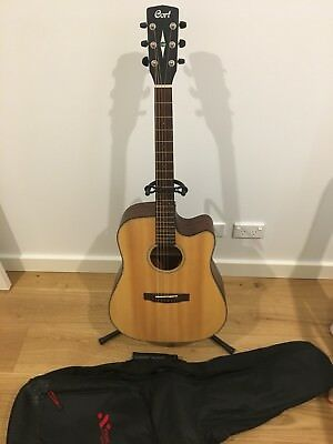 Right-hand Cort MR E NS Dreadnought Acoustic/Electric Cutaway Guitar (with Bag)
