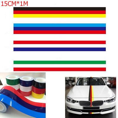 """13mm  Car Motorbike Exterior Vinyl Decal French Flag Colours Striped Tape .5/"""""""