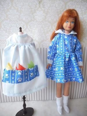 OOAK Handmade inspired Let's Play House blue dress 4 pc complete set