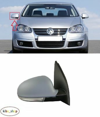 VW JETTA 2010-2018 NEW WING MIRROR ELECTRIC 6PIN PRIMED RIGHT O//S DRIVER LHD