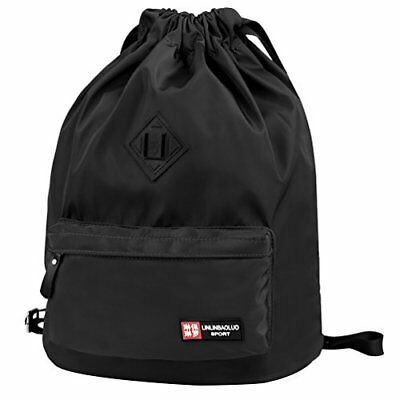Vbiger Unisex Drawstring Backpack Chic School Shoulders Bag Classic Travel Draws