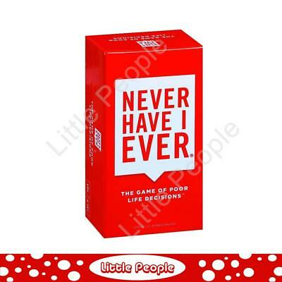 Board Game Never Have I Ever. Relive Life's Awkward Moments! Game last 2