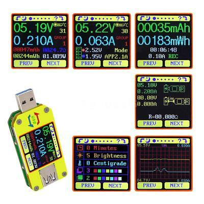 RD UM34C USB 3.0 Type- C Color LCD Display Tester Voltage Current Meter T7J0