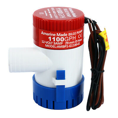 Automatic Submersible Boat Bilge Water Pump 12V 1100GPH Auto with Float Switch