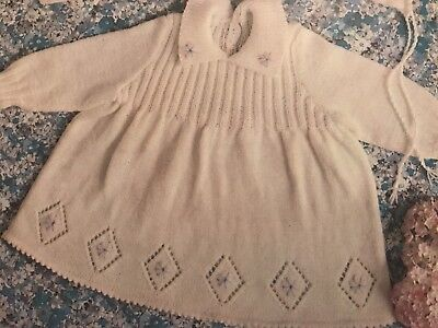 Vintage Knitting Pattern For A Pretty Baby Babies Christening Gown