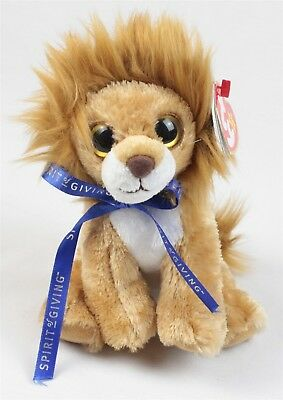 "TY Beanie Babies Spirit of Giving 6"" x 5"" Plush Midas the Lion"