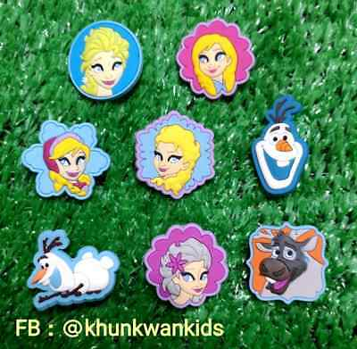 8 x Elsa Frozen Disney  Shoe Charms Jibbitz Wristbands For CROC