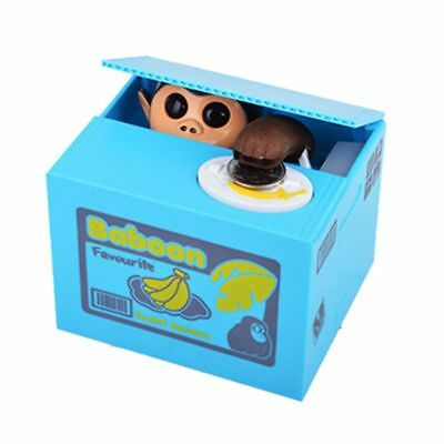 US Monkey Automated Stealing Coin Money Cash Piggy Bank Case Saving Box Kid Gift