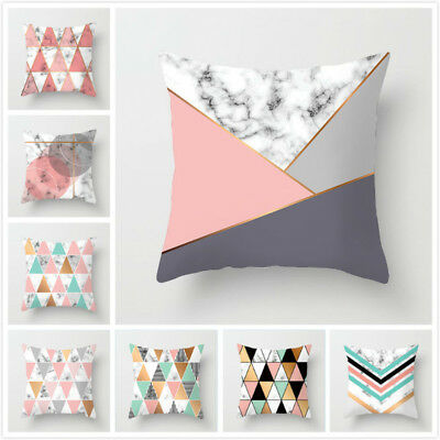 Geometric Pattern Polyester Pillow case Home Sofa Decorative Cushion Cover