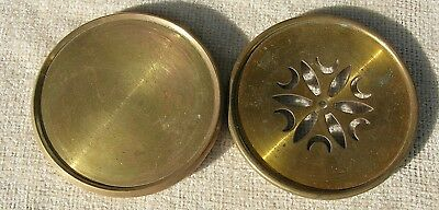 Two Solid Brass Rear Dust Covers for French Insertion Movements.