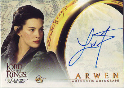 2001 AUTHENTIC AUTOGRAPH - LOTR LIV TYLER as ARWEN -LORD OF THE RINGS/FELLOWSHIP