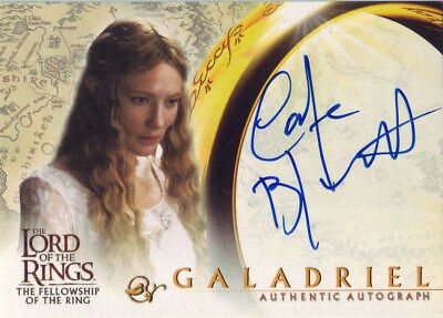 2001 AUTHENTIC AUTOGRAPH - LOTR CATE BLANCHETT as GALADRIEL - LORD OF THE RINGS