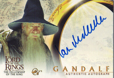 2001 AUTHENTIC AUTOGRAPH - LOTR SIR IAN McKELLEN as GANDALF - LORD OF THE RINGS