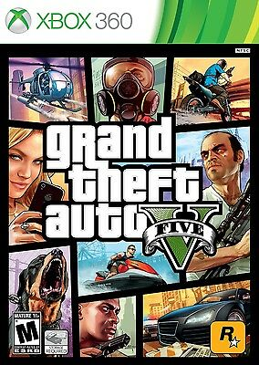 Neuf Grand Theft Auto V Gta 5 (Xbox 360, 2013) Ntsc