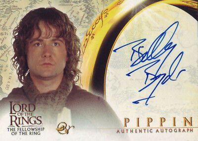 2001 AUTHENTIC AUTOGRAPH - LOTR BILLY BOYD as PIPPIN - FELLOWSHIP OF THE RING