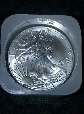 2017 American Silver Eagle Roll Mint Tube / Roll 20 Coins FREE SHIP