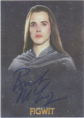 2004 AUTHENTIC AUTOGRAPH - BRET McKENZIE as FIGWIT - TOPPS CHROME -LORD OF RINGS