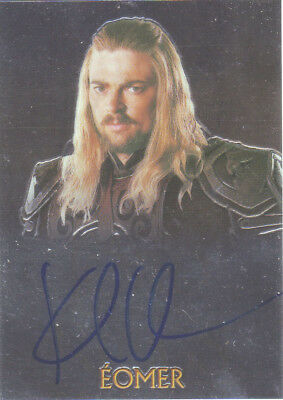 2004 AUTHENTIC AUTOGRAPH - KARL URBAN as EOMER - TOPPS CHROME - LORD OF RINGS