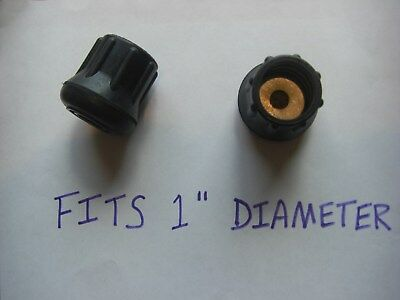 """2 Rubber Tips For Walking Sticks Canes or Crutches 1"""" Diameter with Metal Insert"""