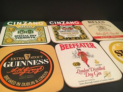 Boxed Set Of 6 Vintage Drink Coasters Corked Excellent Cond Guinness Clover Leaf