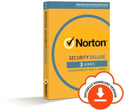 NORTON (Internet) SECURITY DELUXE 3-Geräte / 2 Jahre 2019 PC/Mac/Android / KEY