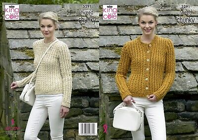 KINGCOLE 5291 Chunky KNITTING PATTERN  28-46INCH -not the finished garments