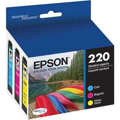 GENUINE NEW EPSON T220520 220 DuraBrite COLOR MULTI PACK SEALED BOX EXP 12/2018