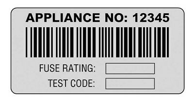 Martindale - BAR1 - Barcoded PAT Test Appliance Labels - QTY 500 Labels