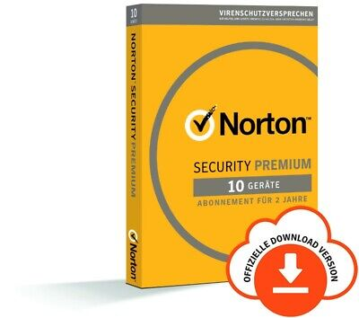 NORTON Internet SECURITY PREMIUM 10-Geräte/2-Jahre 2018/2019 PC/Mac/Android/ KEY