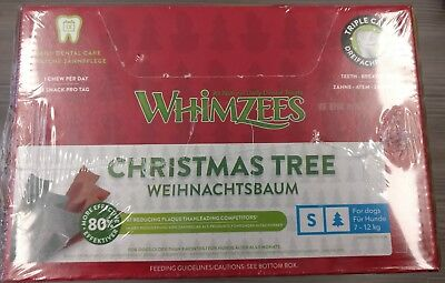 Whimzees Christmas Xmas Tree 150 Small chews - Treats natural reward Dog Dental