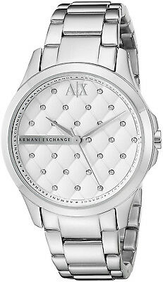 Armani Exchange AX5208 Silver Quilted Dial Stainless Steel Women's Watch