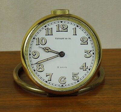 1950s TIFFANY & CO. 8-Day Travel Clock w Superb Swiss 15-Jewel Movement $475+