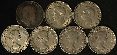 Lot of (7) Great Britain UK 6 Pence - Free Shipping USA