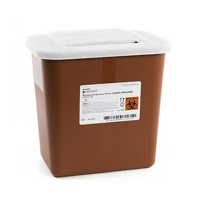 2 Gallon Multi Needle Disposal Sharps Container Lid Doctor Tattoo - CASE OF 20!