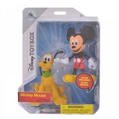 New Disney Store Japan Figure Toy Box Mickey & Pluto From Japan F/S
