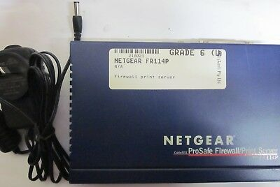 NetGear FR114P Cable/DSL ProSafe 4 Ports Firewall Router with Printer Server