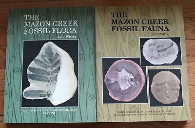 Jack Wittry, Lot of 2 Mazon Creek fossil books, Flora and Fauna