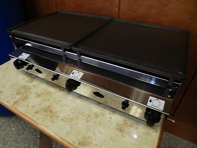Commercial CATERING VAN- CAST IRON- 80x40 cm - LPG Gas-Griddle - Gas Grill-Piezo