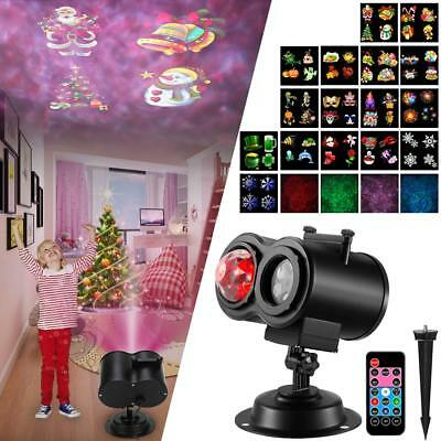 Led Christmas Light Projector, Ocean Wave Projector 2 in 1 Night Light with 16
