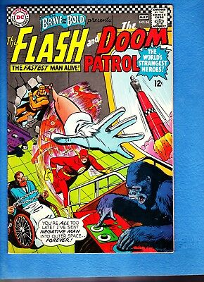 Brave and the Bold #65, 1966, VG/FN 5.0, Flash and Doom Patrol early appearance