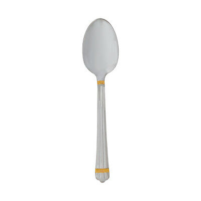 Christofle Silver Plated Aria Gold Dessert Spoon 1022-014