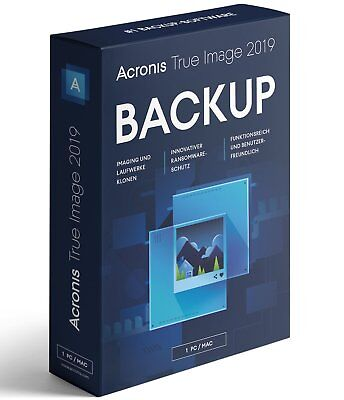 Acronis True Image 2019 1-Gerät -  Backup - Windows / MAC  -  Box