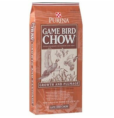 5 lb Purina Game Bird Chow 30% Protein for Quail Guinea Dove Turkey Chickens