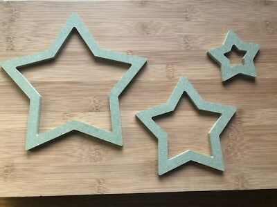 Star MDF Children room Decorations Child Shape DIY Unpainted 3 Different Sizes!