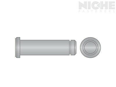 Clevis Pin Grooved 3/8 x 2-1/2 300 Stainless Steel (8 Pieces)